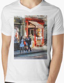Manhattan NY - Greenwich Village Bakery Mens V-Neck T-Shirt