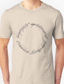 J. R. R. Tolkien - The Lord Of The Rings - Ring Inscriprtion T-Shirt