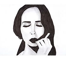 Lana in ink Photographic Print