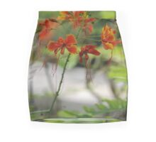 Barbados Spring Theme - Pride of Barbados (Dwarf Poinciana or Flower Fence) If you like, please purchase, try a cell phone cover thanks Mini Skirt