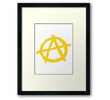 Anarchy Symbol Framed Print