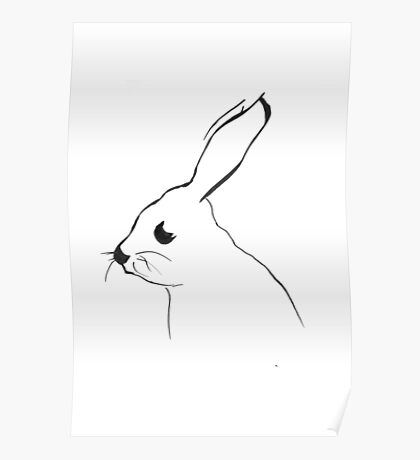 Mr Hare - drawing Poster