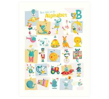 ABC-German - Heute lerne ich das Alphabet Art Print