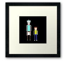 Rick & Morty 8 bit Framed Print