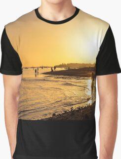 Golden Tropics Hot Beach Sun Graphic T-Shirt