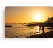 Golden Tropics Hot Beach Sun Canvas Print