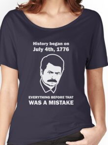 Ron Swanson History July 4 1776 (dark) Women's Relaxed Fit T-Shirt