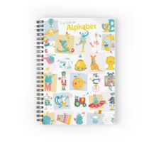 ABC: I can learn the Alphabet - ENGLISH Spiral Notebook