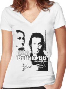 BUFFALO 66 - VINCENT GALLO Women's Fitted V-Neck T-Shirt