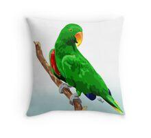 Eclectus Parrot Throw Pillow