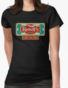 """Rowlf's Tavern """"Come. Sit. Stay."""" Womens Fitted T-Shirt"""