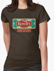"Rowlf's Tavern ""Come. Sit. Stay."" Womens Fitted T-Shirt"