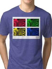 Warholed Zebras Tri-blend T-Shirt