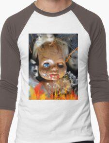 Evil Doll Men's Baseball ¾ T-Shirt
