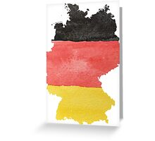 Germany Country Outline in Black, Red and Gold Flag Colors Greeting Card