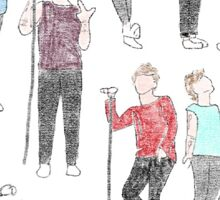 louis on stage drawings sketches Tomlinson one direction  Sticker