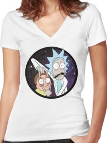 Rick and Mortyy 2. Women's Fitted V-Neck T-Shirt
