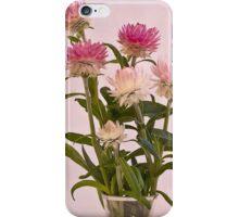Straw Flowers - Digital Water Color iPhone Case/Skin