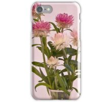 Straw Flowers - Digital Water Color iPhone Case/Skin