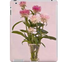 Straw Flowers - Digital Water Color iPad Case/Skin