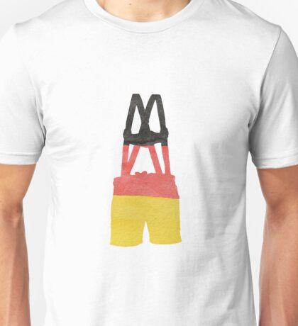 Lederhosen German Leather Breeches in German Flag Colors Unisex T-Shirt