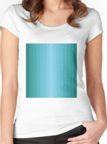 Emerald Vertical Gradient stripes Women's Fitted Scoop T-Shirt