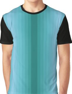 Emerald Vertical Gradient stripes Graphic T-Shirt