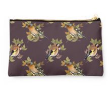 vintage goldfinch and chaffinch design. Studio Pouch