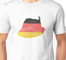 German Hunting Cap in German Flag Water Colors Unisex T-Shirt