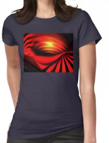 Ruby Sunset Womens Fitted T-Shirt