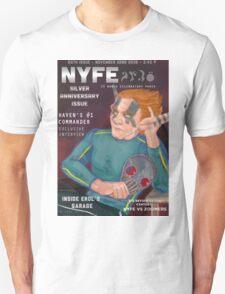 Erol on the cover of NYFE Magazine  Unisex T-Shirt