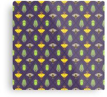 Insecta Geometrica - Geometric Insects Pattern Metal Print