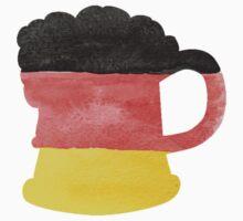 Stein or Mug of Beer in Water Colors of German Flag Kids Tee