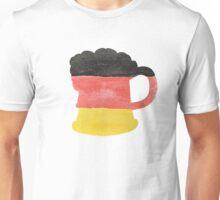 Stein or Mug of Beer in Water Colors of German Flag Unisex T-Shirt