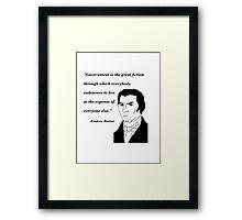 Bastiat on Government Framed Print