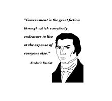 Bastiat on Government Photographic Print