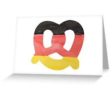 Pretzel in Hand-Painted Water Colors of German Flag Greeting Card