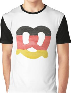 Pretzel in Hand-Painted Water Colors of German Flag Graphic T-Shirt