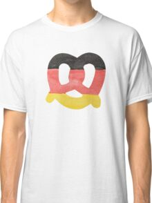 Pretzel in Hand-Painted Water Colors of German Flag Classic T-Shirt