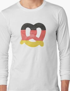 Pretzel in Hand-Painted Water Colors of German Flag Long Sleeve T-Shirt