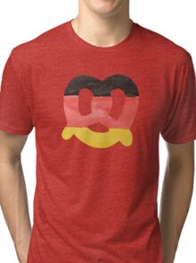 Pretzel in Hand-Painted Water Colors of German Flag Tri-blend T-Shirt