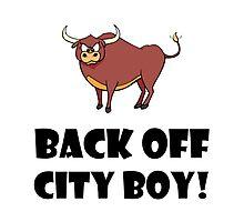 Back Off City Boy Photographic Print