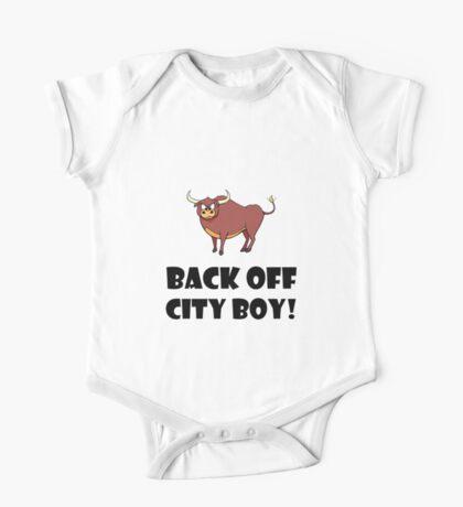 Back Off City Boy One Piece - Short Sleeve