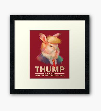 Donald Thump Framed Print