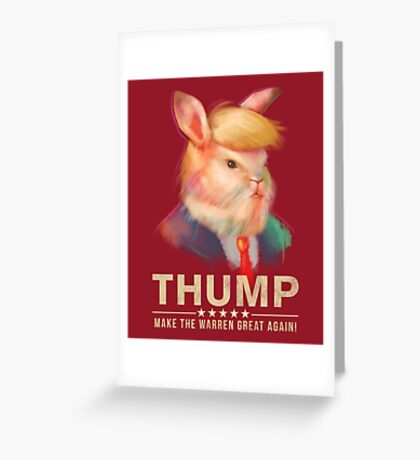 Donald Thump Greeting Card