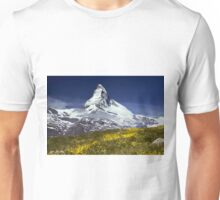 The Matterhorn with Alpine Meadow in Foreground Unisex T-Shirt