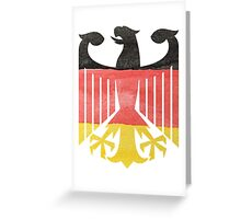 German Eagle Federal Coat of Arms in Germany Flag Water Colors Greeting Card