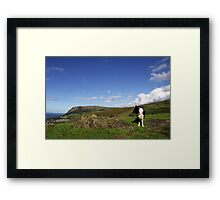 Above and Beyond with Indy. Framed Print
