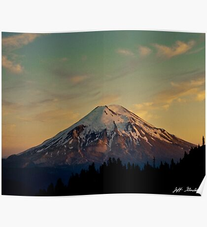 Mount Saint Helens at Sunset Before the Eruption Poster