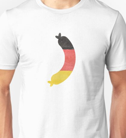 Link Sausage Wurst in Hand-Painted in German Flag Colors Unisex T-Shirt
